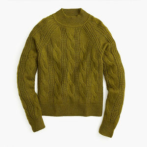 NWT J. Crew Mockneck Cable-knit Sweater - XL